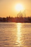 Bodrum marina at sunset Stock Images