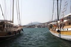 Bodrum, mening van Mugla, Turkije stock afbeelding