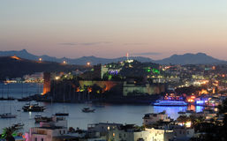 Bodrum at night Stock Photography