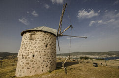 Bodrum old windmill royalty free stock images