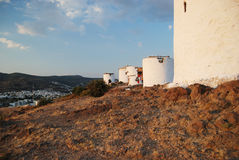 Bodrum old windmills Stock Images