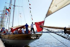 Bodrum Sailboat on the Black Sea. Stock Photography