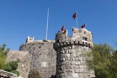 Bodrum slott Arkivfoto