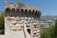 Bodrum slott från Mugla Arkivfoton