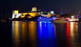 Bodrum slott från Mugla Arkivfoto
