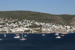 Bodrum Town in Aegean Coast of Turkey Royalty Free Stock Photos