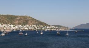 Bodrum Town in Aegean Coast of Turkey Royalty Free Stock Photo