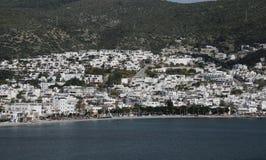 Bodrum Town in Aegean Coast of Turkey Stock Photos