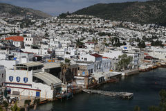 Bodrum Town in Aegean Coast of Turkey Royalty Free Stock Photography