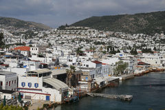 Bodrum Town in Aegean Coast of Turkey Royalty Free Stock Images