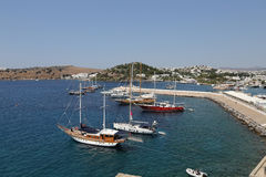 Bodrum Town in Turkey Stock Photos