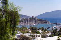 Bodrum, Turkey. The ancient Bodrum Castle, famous medieval structure in Bodrum, Turkey Royalty Free Stock Photo