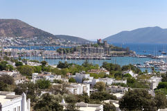 Bodrum, Turkey. The ancient Bodrum Castle, famous medieval structure in Bodrum, Turkey Royalty Free Stock Photos