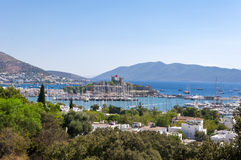Bodrum, Turkey. The ancient Bodrum Castle, famous medieval structure in Bodrum, Turkey Stock Images