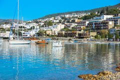 BODRUM, TURKEY - December  2014: Yacht and sailing vessels in th Stock Photo