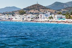 BODRUM, TURKEY - JUNE 24, 2014: Aerial view to the city. Bodrum is famous for housing the Mausoleum of Halikarnassus, one of the S Royalty Free Stock Images