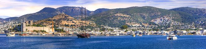 Free Bodrum, Turkey. Panoramic View Of Old Town And Marine Royalty Free Stock Images - 153286409