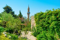 View of the mosque minaret Stock Image