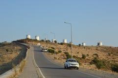 Free BODRUM, TURKISH - JULY 03, 2020: Windmills On The Mountain Stock Photo - 189932640