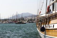 Bodrum, visión desde Mugla, Turquía fotografía de archivo