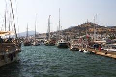 Bodrum, vista da Mugla, Turchia fotografia stock libera da diritti