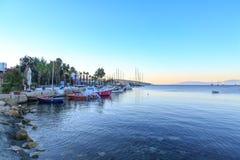 Bodrum widok od Bodrum plaży Zdjęcie Stock