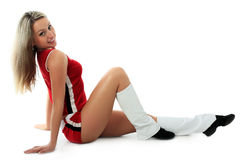 Body. Portrait of a styled professional cheerleader Stock Images