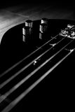 Body of ablack bass guitar Stock Images