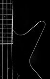 Body of ablack bass guitar Royalty Free Stock Photography