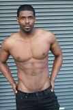 Body of an African American hot male.  Stock Image