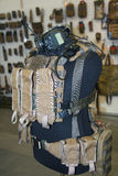 Body armor, pouches and radio on a mannequin Stock Image