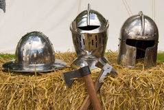 Body armor on straw royalty free stock photography