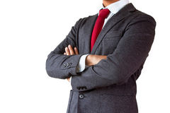 Body arms crossed of Confident businessman Stock Images