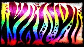 Body art della tigre dell'arcobaleno Immagini Stock Libere da Diritti