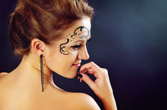 Body art on the face of the girl Stock Image