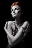 Body art girl silver Royalty Free Stock Photo