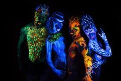 Body art glowing Stock Photos