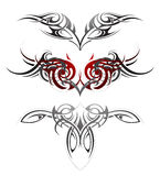 Body art tattoo set Royalty Free Stock Images