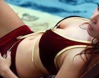 Body At Pool Royalty Free Stock Image