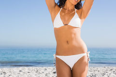 Body of attractive young woman Royalty Free Stock Photography