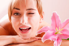 Body beatiful women relax. Bodi beatiful woman relax in spa Stock Images