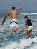 Body Board Jump Royalty Free Stock Photography