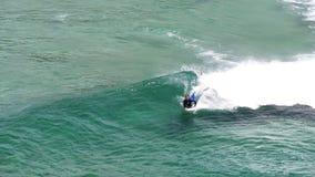 Body boarder stock video footage