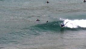 Body boarder spin stock video