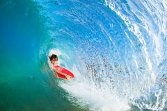Body Boarder Surfing Stock Images