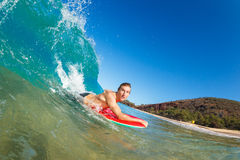 Body Boarder Surfing Stock Photos