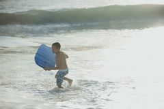 Free Body Boarding On The Waters Edge Stock Images - 154590804