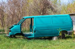The body of the broken car after the accident royalty free stock photography