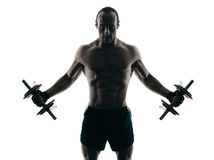 Body buiding man isolated Royalty Free Stock Photography