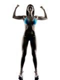 Body buiding woman bikini isolated Royalty Free Stock Photo